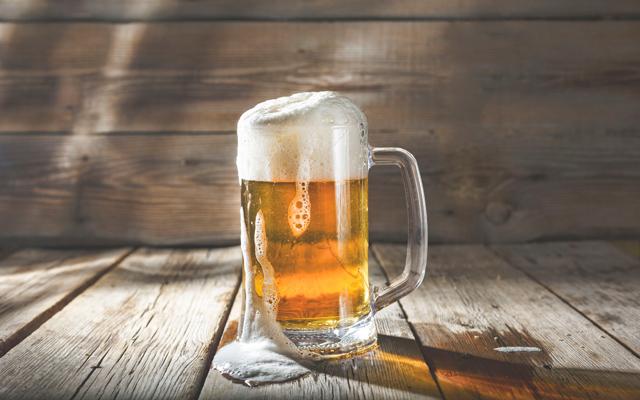Ein kühles Bier, das schmeckt mir